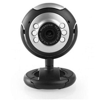 Web Cam Pctop Com Microfone Preta/Prata Wcpp02