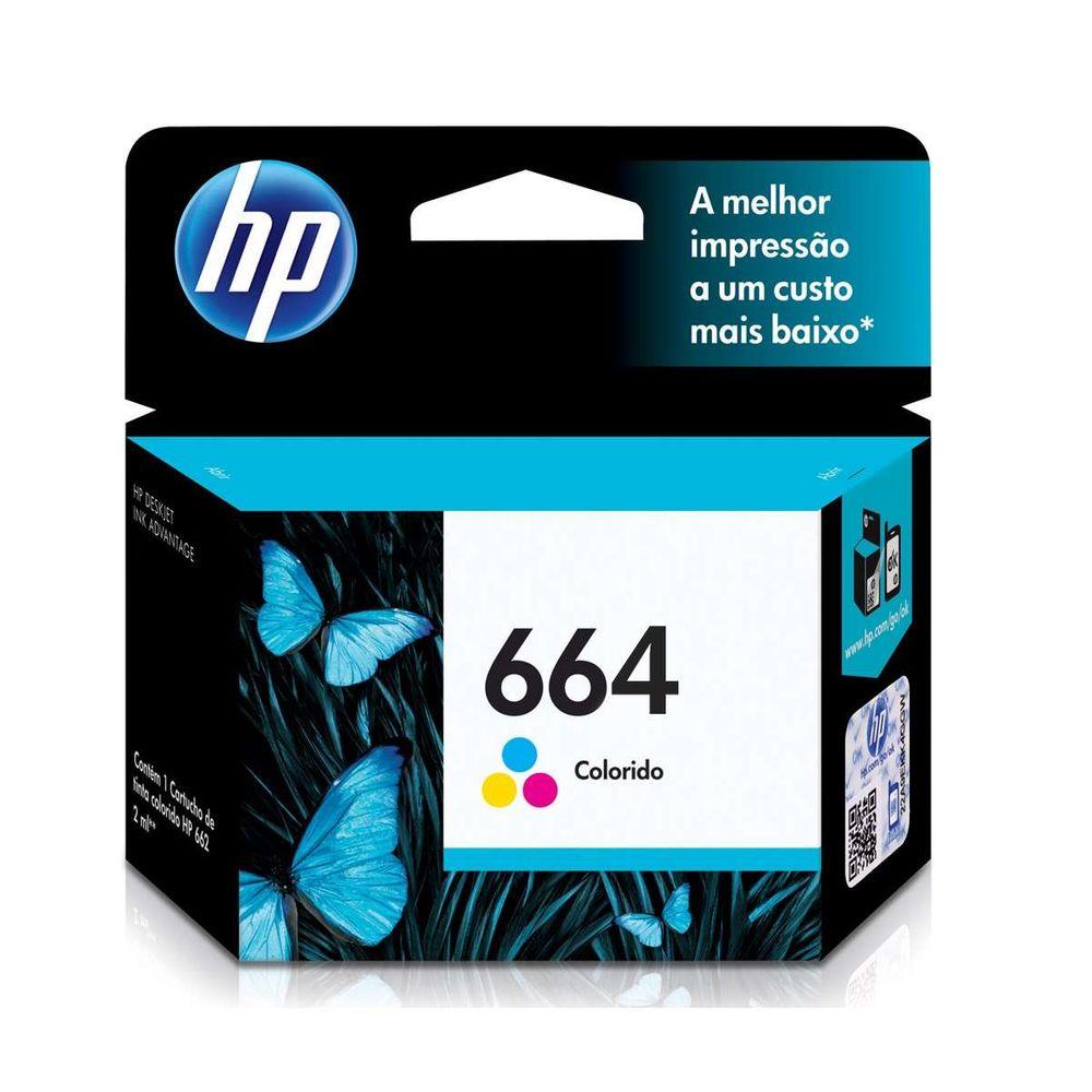 Cartucho de Tinta HP 664 F6V28AB Color 2ml