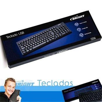 Teclado Bright Padrão ABNT2 USB Preto 0014