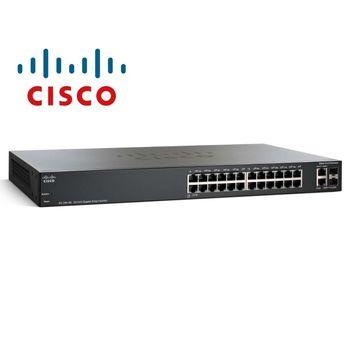 Switch Cisco 24Ptas 10/100/1000+2 SFP SG 200-26 -SLM2024T-NA