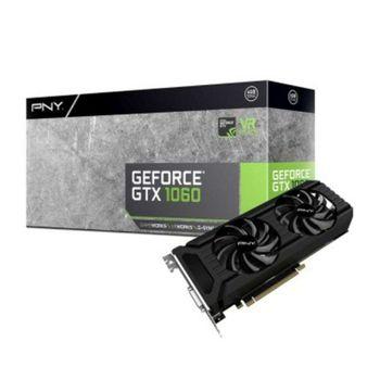 Placa de Vídeo PNY GeForce GTX 1060 6GB DDR5 192 Bits 8000Mhz - VCGGTX10606PB
