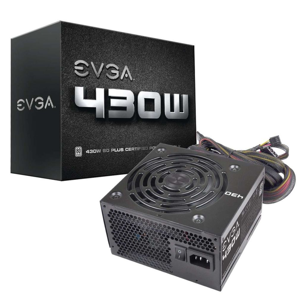 Fonte eVGA 430W 80Plus White Bivolt Automatico - 100-W1-0430-KR