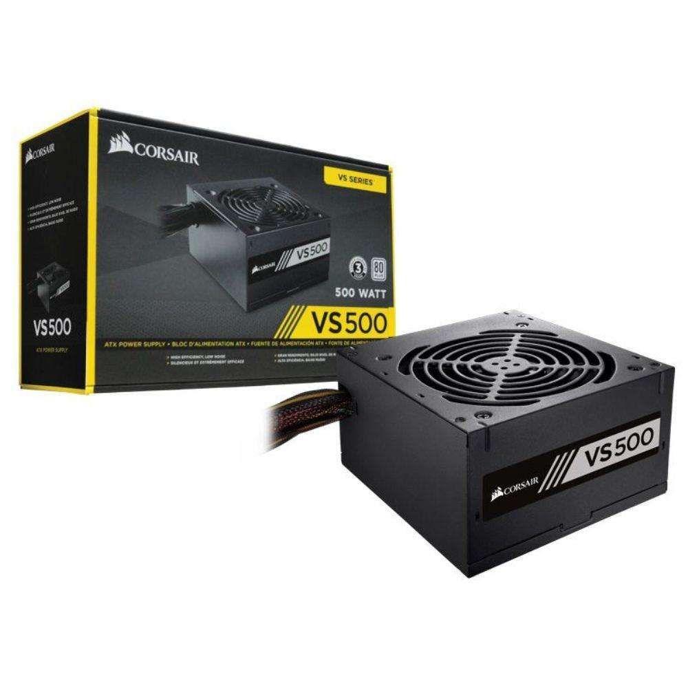 Fonte Corsair 500W 80Plus White VS500 Bivolt Automatico - CP-9020118-LA