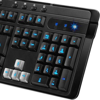 Teclado Gamer Genius KB-G255 USB 2.0 Luminoso led Azul