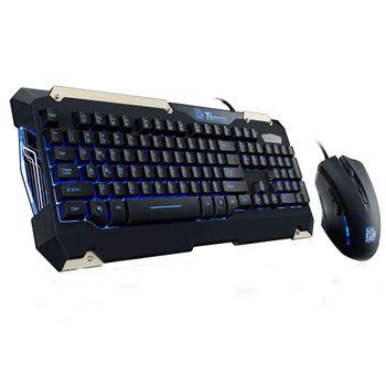 Kit Teclado e Mouse Gamer Thermaltake TT Sports Commander Combo Multi Backlit- KB-CCM-PLBL