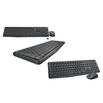 Kit Teclado e Mouse Logitech Wireless Desktop MK235 Preto
