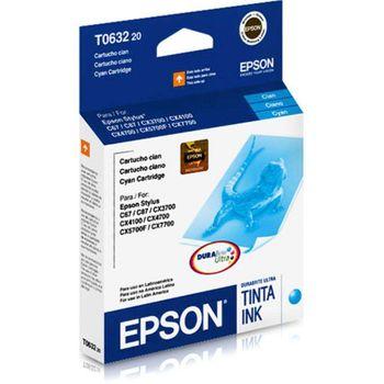 Cartucho de Tinta Epson T063220-AL Ciano 8 ml