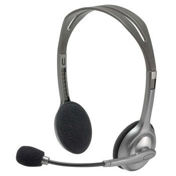 Headset Logitech H110 Cinza