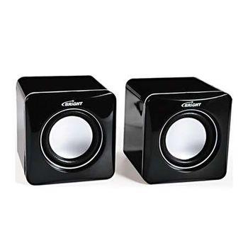 Caixa De Som USB Portátil 3w Rms Plugue 3.5 Cubo 0232 Bright