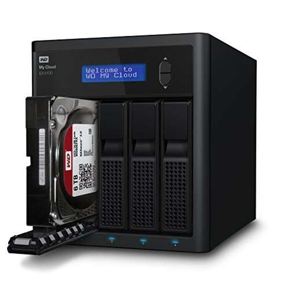 Storage WD NAS MY CLOUD EX4100 4-Bay Sem Disco - WDBWZE0000NBK-NESN