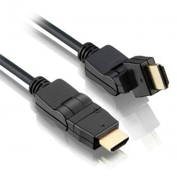 Cabo HDMI Articulado 90º 180º Nas 2 Pontas Gold 1,5M 1,4 3D - HM-305