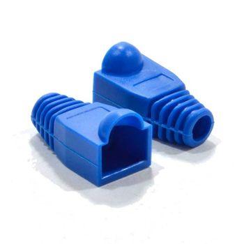 Capa para Conector RJ45 PVC Azul Pacote com 50