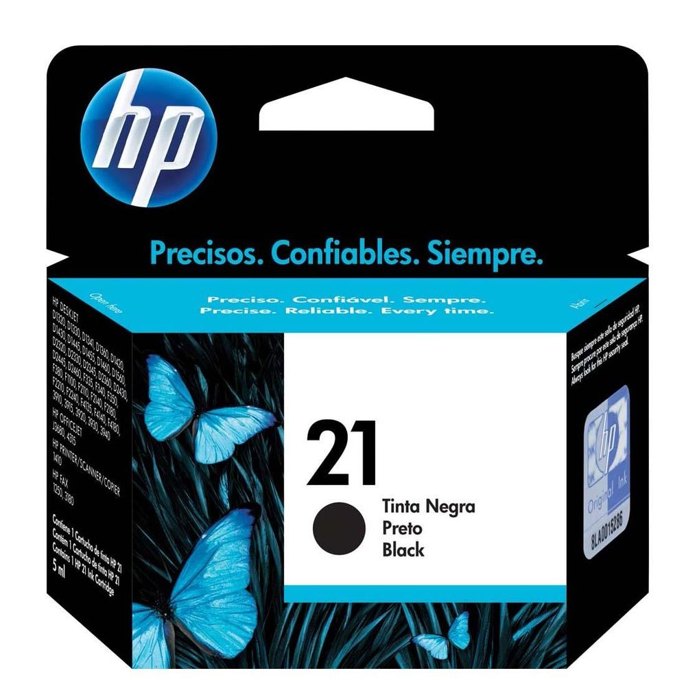 Cartucho de Tinta HP 21 C9351AB Preto 7 ml