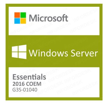 Microsoft Windows Server Essentials 2016 Português 64 Bits G3S-01040 COEM