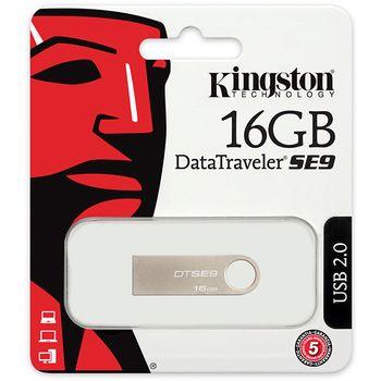 Pen Drive Kingston DataTraveler SE9 16GB USB 2.0 DTSE9H/16GB - Prata
