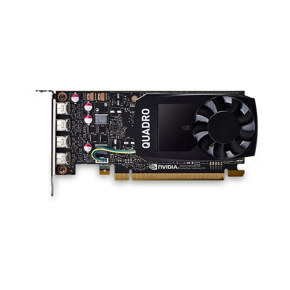 Placa de Video NVIDIA PNY Quadro P1000 4GB DDR5 128 Bits - VCQP1000-PORPB