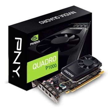 Placa de Video NVIDIA PNY Quadro P1000 4GB DDR5 128 Bits - VCQP1000-PORPB