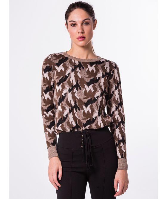 Blusa Tricot Camuflada
