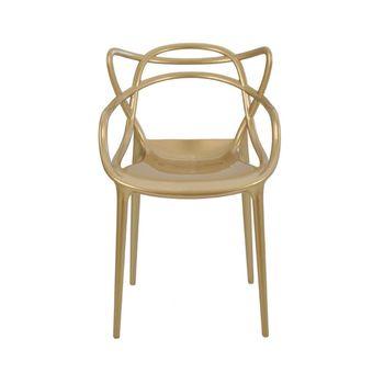 Cadeira Allegra Masters de Polipropileno Metálica Rivatti