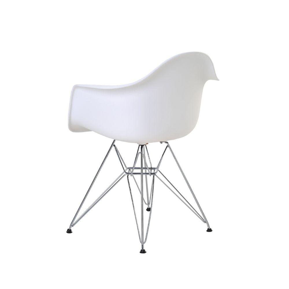 Cadeira Eames Eiffel Rivatti com braço PP Base Cromada