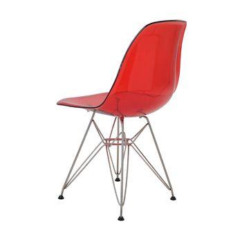 Cadeira Eames Eiffel Rivatti sem braço PC Base Cromada