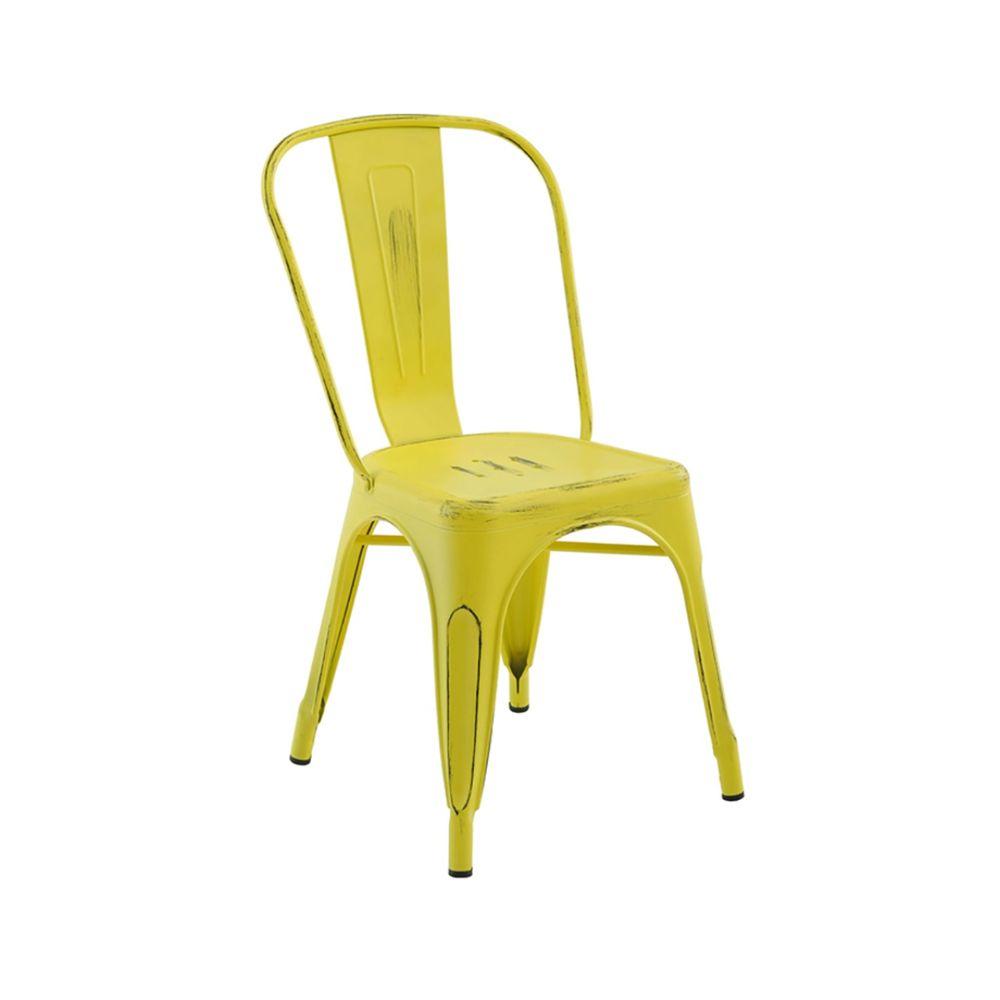 Cadeira Tolix Iron Rivatti sem braço Vintage