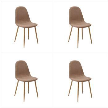 Kit 4 peças Cadeira Bogotá Base Clara