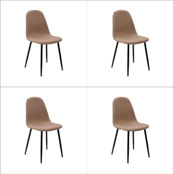 Kit 4 peças Cadeira Bogotá Base Escura