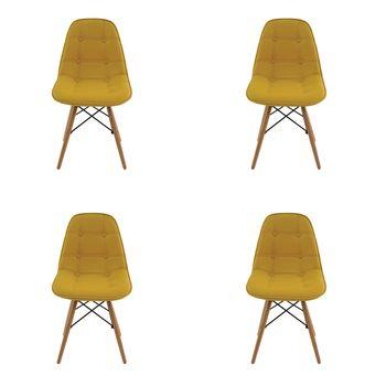 Kit 4 peças Cadeira Eames Eiffel Rivatti sem braço Botonê