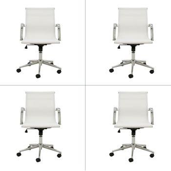 Kit 4 peças Cadeira Eames Sevilha Rivatti Baixa Tela