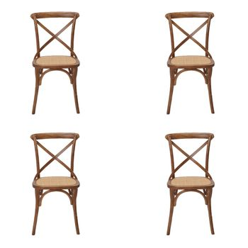 Kit 4 peças Cadeira Katrina Rivatti Madeira