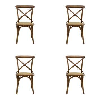 Conjunto 4 peças Cadeira Katrina Rivatti Madeira