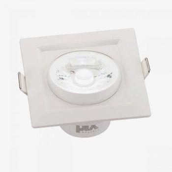 Spot Led De Embutir Pix Luminária Led 8w Quadrado Branco Quente