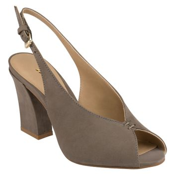 Peep Toe Sling Back v Neck Mouse