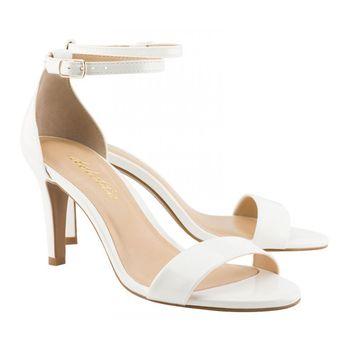 Sandália Clássica Verniz Branco