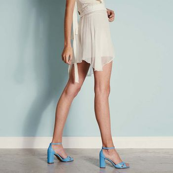 Sandália Tiras Cross Blue