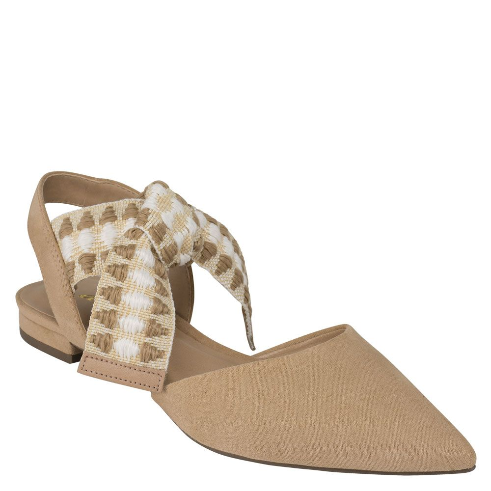 Sapatilha Lace-up Nude Suede Antico