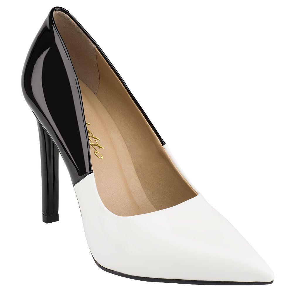 Scarpin Bicolor Preto e Branco