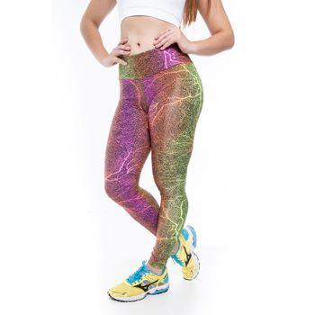 Legging Basica Run Tech Riscado Fluor