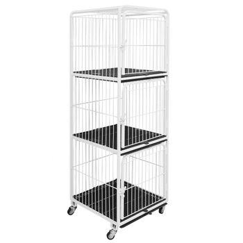 Canil/Gatil de 03 Lugares para Banho e Tosa e Pet Shop em Aço