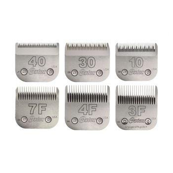 Lâminas de Tosa Oster nº 10, 30, 40, 7F , 5F e 3F - Combo