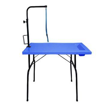 Mesa de Tosa Fixa Azul em Fibra Orion