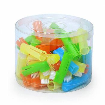 Pote Escova de Dentes/Dedeira de Nylon Para Animais c/ 50 Unidades