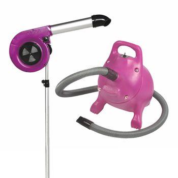 Secador de Pedestal Kyklon Maestro Pink + Soprador RX Pink - Combo