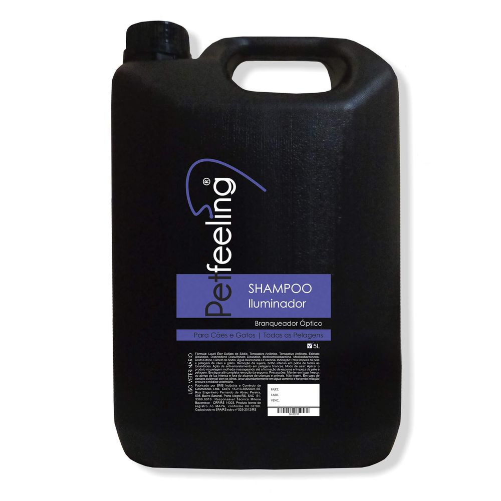 Shampoo Iluminador Pet Feeling 5L