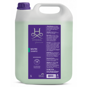 Shampoo Neutro Hydra Pet Society 5L 1:4