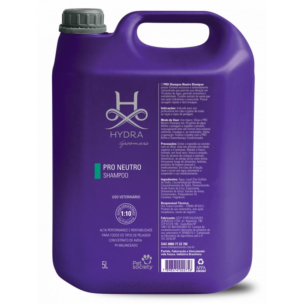 Shampoo Neutro Hydra Pro Pet Society 5L 1:10