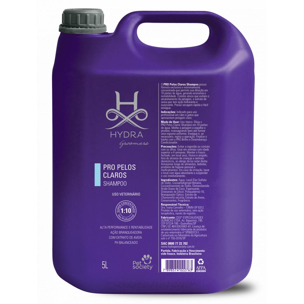 Shampoo Pelos Claros Hydra Pro Pet Society 5L 1:10