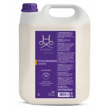Shampoo Pelos Dourados Hydra Pet Society 5L 1:4