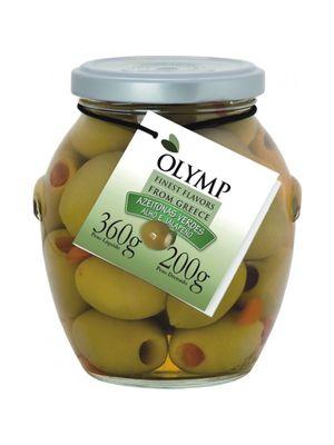 Azeitonas Olymp Verdes com Alho e Pimenta 200g